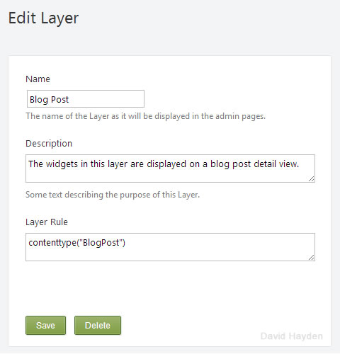 Content Type Layer Rule for Widgets in Orchard CMS