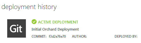 Git Push Orchard CMS to Windows Azure