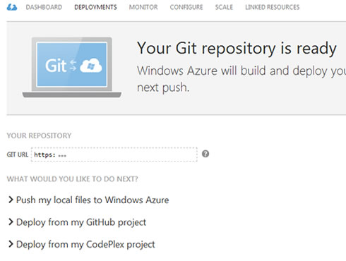 Orchard CMS Git Repository on Windows Azure