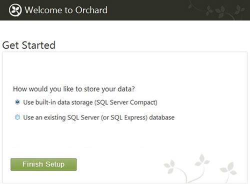 Orchard Website and SQL Server CE - Free Database
