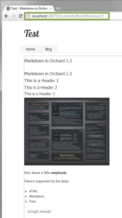 Preview Unpublished Draft Blog Post in Orchard