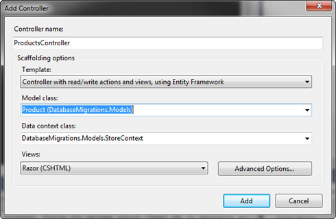 ASP.NET MVC 4 and Entity Framework Add Controller Code Generation