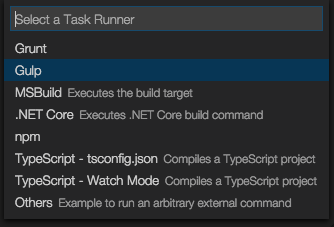 Configure Gulp in Visual Studio Code