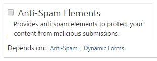 Anti-Span Elements for Dynamic Forms in Orchard CMS