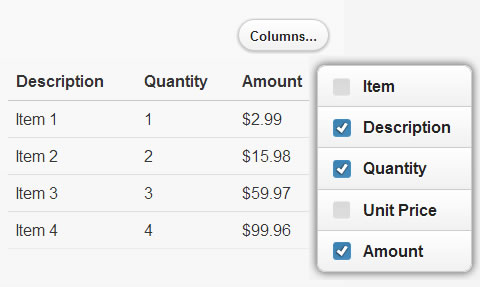ColumnToggle in jQuery Mobile for Responsive Tables