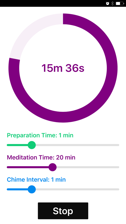 React.js Mobile App Meditation Timer