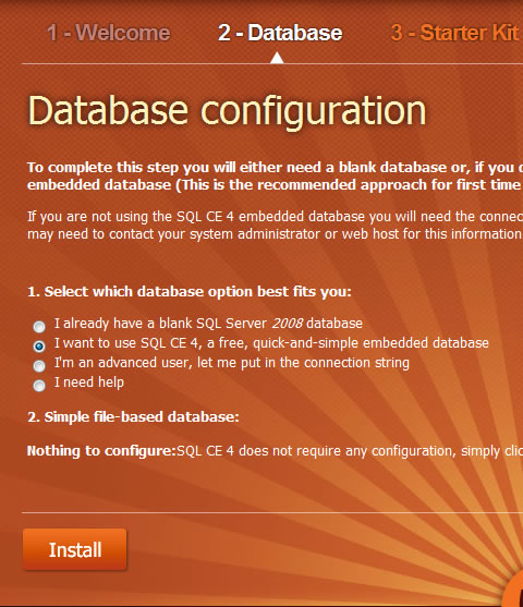 SQL CE 4 Database and Umbraco 5