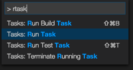 Run Task in Visual Studio Code
