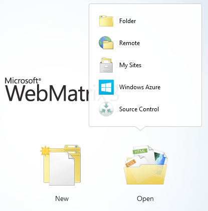 WebMatrix 3 Open Website in Source Control