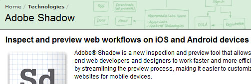 Mobile Web Development for iOS and Android with Adobe Shadow