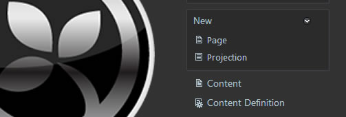 New Content Definition Menu Item in Orchard CMS