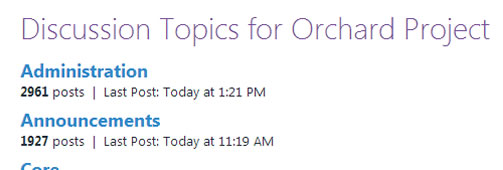 Orchard CMS Forum Best Practices