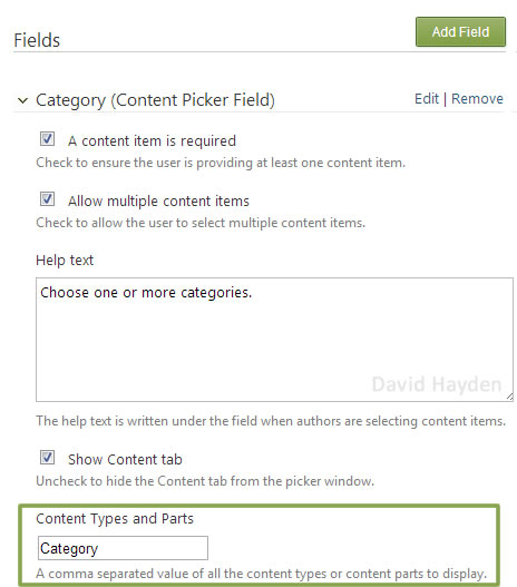 Content Picker in Orchard CMS with Content Type Filtering