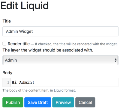 Create a new widget in Orchard Core CMS