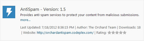 Anti-Spam Module in Orchard CMS
