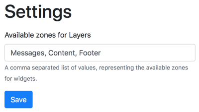 Available Zones for Layers in Orchard Core CMS