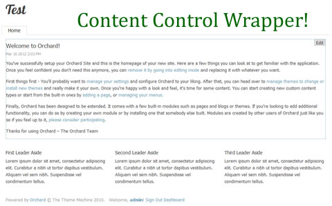 Content Control Wrapper Creates Edit Links Around Content Items in Orchard CMS