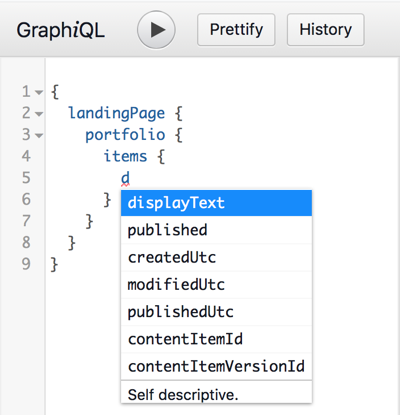 GraphiQL Intellisense in Orchard Core CMS