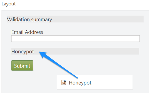 Honeypot Form Element for Dynamic Forms in Orchard CMS