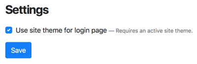 New Login Setting in Orchard Core CMS