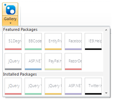 Nuget Package Gallery in WebMatrix 2