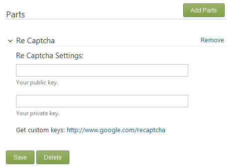 reCaptcha Settings in Orchard CMS